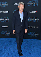 "LOS ANGELES, USA. December 17, 2019: Harrison Ford at the world premiere of ""Star Wars: The Rise of Skywalker"" at the El Capitan Theatre.<br /> Picture: Paul Smith/Featureflash"
