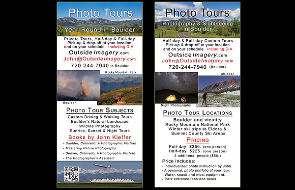 John leads photo tours and workshops throughout Colorado, including Denver.<br /> Your tour can begin in Denver and then journey to the top of Mt Evans to view the Mountain Goats.