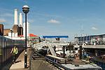 Nine Elms Wharf, Battersea Power Station, Thames Path. London UK