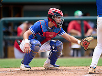East Lake Eagles catcher Marco Dinges (5) during the 42nd Annual FACA All-Star Baseball Classic on June 6, 2021 at Joker Marchant Stadium in Lakeland, Florida.  (Mike Janes/Four Seam Images)