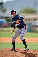Atlanta Braves pitcher Dalton Geekie (90) during an instructional league game against the Houston Astros on October 1, 2015 at the Osceola County Complex in Kissimmee, Florida.  (Mike Janes/Four Seam Images)
