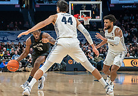 WASHINGTON, DC - JANUARY 28: Omer Yurtseven #44 of Georgetown defends against Kamar Baldwin #3 of Butler during a game between Butler and Georgetown at Capital One Arena on January 28, 2020 in Washington, DC.