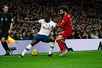 Tottenham's Danny Rose battles for possession with Liverpool's Mohamed Salah <br /> <br /> Photographer Stephanie Meek/CameraSport<br /> <br /> The Premier League - Tottenham Hotspur v Liverpool - Saturday 11th January 2020 - Tottenham Hotspur Stadium - London<br /> <br /> World Copyright © 2020 CameraSport. All rights reserved. 43 Linden Ave. Countesthorpe. Leicester. England. LE8 5PG - Tel: +44 (0) 116 277 4147 - admin@camerasport.com - www.camerasport.com