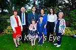 Sean O'Brien from Killorglin receiving his First Holy Communion in St Mary's Church Beaufort on Saturday, l to r: John and Pauline Twiss, Mike, Maeve and Sean O'Brien, Leona Twiss O'Brien, Paula Twiss and Marie O'Brien.