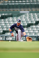 Tampa Bay Rays first baseman Nathaniel Lowe (37) during an Instructional League game against the Baltimore Orioles on September 19, 2016 at Ed Smith Stadium in Sarasota, Florida.  (Mike Janes/Four Seam Images)