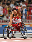 Chantal Peticlerc won the gold in the women 100 m t54 final.<br /> - Photo Benoit Pelosse-CPC
