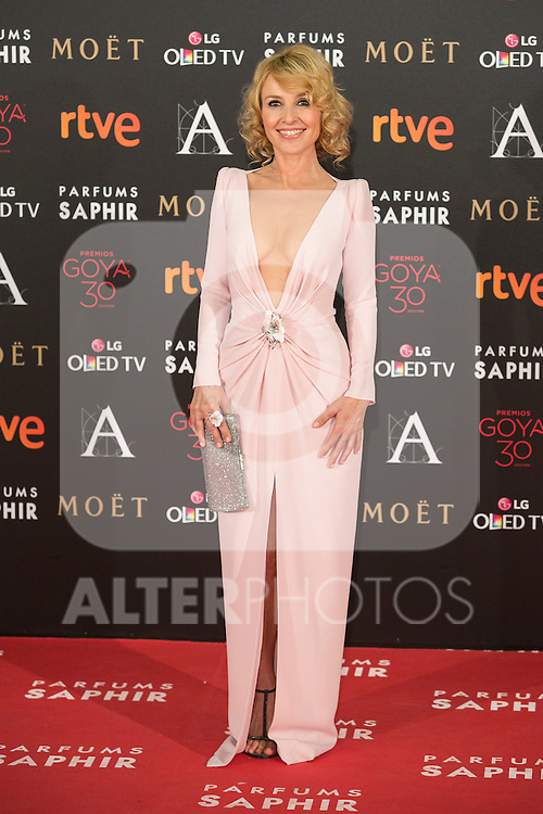 Cayetana Guillen Cuervo attends 30th Goya Awards red carpet in Madrid, Spain. February 06, 2016. (ALTERPHOTOS/Victor Blanco)