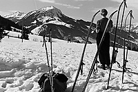 Le ski a la  montagne en Allemagne,entre 1932 et 1935<br /> <br /> Skiing in German mountain between 1932 ans 1935