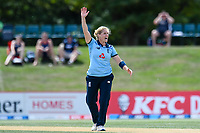 23rd February 2021, Christchurch, New Zealand;  Katherine Brunt of England appeals for a wicket during the 1st ODI Cricket match, New Zealand versus England, Hagley Oval, Christchurch, New Zealand