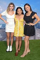 "LOS ANGELES - JUL 15:  Cricket Wampler, Tiana Lee, Tisha Custodio at Disney+ ""Turner & Hooch"" Premiere Event at Westfield Century City Mall on July 15, 2021 in Century City, CA"
