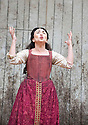 Macbeth by William Shakespeare. A Shakespeare's Globe Production directed by Eve Best. with Samantha Spiro as Lady Macbeth .Opens at the Shakespeare's Globe Theatre on 4/7/13  pic Geraint Lewis