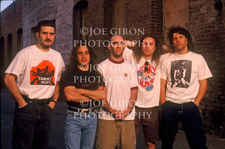 Rock band, Anthrax, pose for a portrait session.
