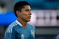 SAN JOSE, CA - MAY 12: Raul Ruidiaz  #9 of the Seattle Sounders before a game between San Jose Earthquakes and Seattle Sounders FC at PayPal Park on May 12, 2021 in San Jose, California.