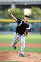 Syracuse Chiefs starting pitcher A.J. Cole (18) delivers a pitch during a game against the Buffalo Bisons on July 23, 2014 at Coca-Cola Field in Buffalo, New  York.  Syracuse defeated Buffalo 5-0.  (Mike Janes/Four Seam Images)