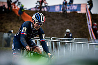 Marion Riberolle (FRA) pre race focus <br /> <br /> Women's U23 race<br /> UCI 2020 Cyclocross World Championships<br /> Dübendorf / Switzerland<br /> <br /> ©kramon