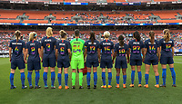 Cleveland, Ohio - Tuesday June 12, 2018: USWNT starting eleven vs China PR during an international friendly match between the women's national teams of the United States (USA) and China PR (CHN) at FirstEnergy Stadium.
