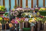 Outdoor florist at Quincy Market, Boston, Massachusetts, USA