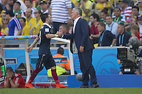 Mathieu Valbuena is substituted off by France manager Didier Deschamps