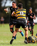 Lukas Halls. Kings College 1st XV v New Plymouth Boys High, Kings College, Auckland, New Zealand. Saturday 8 April 2017. Photo: Simon Watts/www.bwmedia.co.nz for Kings College