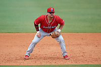 Lakewood BlueClaws first baseman Quincy Nieporte (10) during a game against the Greensboro Grasshoppers on June 10, 2018 at First National Bank Field in Greensboro, North Carolina.  Lakewood defeated Greensboro 2-0.  (Mike Janes/Four Seam Images)