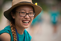 """Amber Huang poses for a portrait during """"Circle the City with Service,"""" the Kiwanis Circle K International's 2015 Large Scale Service Project, on Wednesday, June 24, 2015, in Indianapolis. (Photo by James Brosher)"""