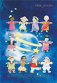 Isabella, CHRISTMAS CHILDREN, naive, paintings, earth, children(ITKE501391,#XK#) Weihnachten, Navidad, illustrations, pinturas