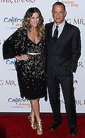 "BURBANK, CA - DECEMBER 09: Rita Wilson, Tom Hanks arriving at the U.S. Premiere Of Disney's ""Saving Mr. Banks"" held at Walt Disney Studios on December 9, 2013 in Burbank, California. (Photo by Xavier Collin/Celebrity Monitor)"