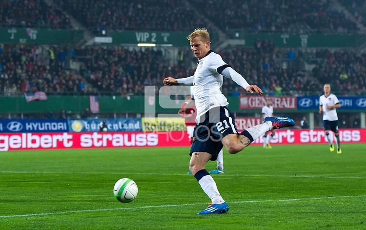 VIENNA, Austria - November 19, 2013: Brek Shea during a 0-1 loss to host Austria during the international friendly match between Austria and the USA at Ernst-Happel-Stadium.
