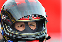 Jan 23, 2009; Chandler, AZ, USA; NHRA funny car driver Bob Tasca III during testing at the National Time Trials at Firebird International Raceway. Mandatory Credit: Mark J. Rebilas-