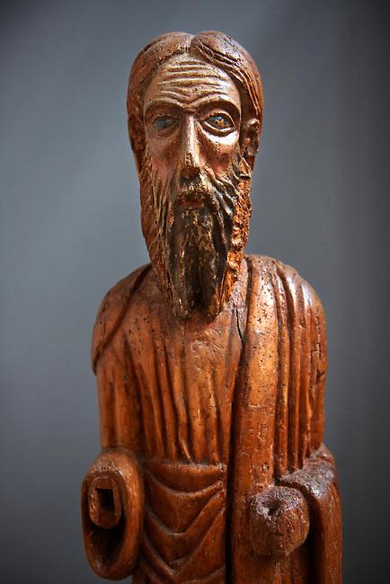 13th century wood statue of Saint  Elias - Amalfi Cathedral museum, Italy