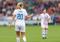 Houston, TX - Sunday April 08, 2018: Allie Long during an International Friendly soccer match between the USWNT and Mexico at BBVA Compass Stadium.
