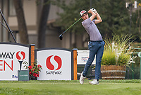 11th September 2020, Napa, California, USA;  Luke Schniederjans of the United States tees off during the second round of the Safeway Open PGA tournament on September 11, 2020 at Silverado Country Club in Napa, CA.