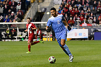 Chester, PA - Friday December 08, 2017: Mauricio Pineda The Indiana Hoosiers defeated the North Carolina Tar Heels 1-0 during an NCAA Men's College Cup semifinal soccer match at Talen Energy Stadium.
