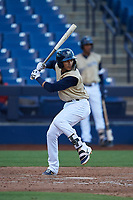 AZL Brewers Gold Daniel Castillo (13) at bat during an Arizona League game against the AZL Brewers Blue on July 13, 2019 at American Family Fields of Phoenix in Phoenix, Arizona. The AZL Brewers Blue defeated the AZL Brewers Gold 6-0. (Zachary Lucy/Four Seam Images)
