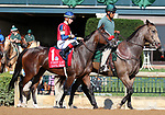 October 06, 2018 : #1 Insta Erma and Tyler Gaffalione in the 21st running of The First Lady (Grade 1) $400,000 at Keeneland Race Course on October 06, 2018 in Lexington, KY.  Candice Chavez/ESW/CSM