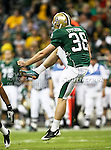 Baylor Bears punter Derek Epperson (38) in action during the 2010 Texas  Bowl football game between the Illinois  Fighting Illini and the Baylor Bears at the Reliant Stadium in Houston, Tx. Illinois defeats Baylor 38 to 14....