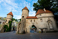 Estonia, Tallinn, Old town square, UNESCO World Heritage Site.