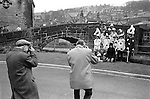 Midgley Pace Egg Play Hebden Bridge, Yorkshire. England. 1970s. Children of Calder Valley High School who annually perform the traditional Easter Pace Egg Mumming play. 1972.<br />