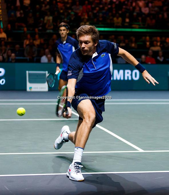 Rotterdam, The Netherlands, 15 Februari 2020, ABNAMRO World Tennis Tournament, Ahoy, <br /> Doubles: Raven Klaasen (RSA) and Oliver Marach (AUT), Pierre-Hugues Herbert (FRA) and Nicolas Mahut (FRA).<br /> Photo: www.tennisimages.com