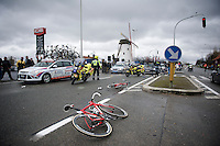 crash site<br /> <br /> 70th Dwars Door Vlaanderen 2015