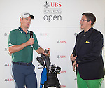 Justin Rose of England visits the UBS Pavilion during the 58th UBS Hong Kong Golf Open as part of the European Tour on 10 December 2016, at the Hong Kong Golf Club, Fanling, Hong Kong, China. Photo by Vivek Prakash / Power Sport Images