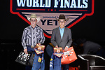 Zane Compton, Maverik Franks, during the Team Roping Back Number Presentation at the Junior World Finals. Photo by Andy Watson. Written permission must be obtained to use this photo in any manner.