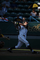 Jarren Duran (4) of the Long Beach State Dirtbags bats against the Arizona State Sun Devils at Blair Field on February 27, 2016 in Long Beach, California. Long Beach State defeated Arizona State, 5-2. (Larry Goren/Four Seam Images)