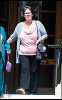 BNPS.co.uk (01202 558833)<br /> Pic:  BNPS<br /> <br /> Mandy Struthers-Gardner, civil partner of Elena Lindsay Struthers-Gardner, leaving the inquest at Bournemouth town hall today (Monday).<br /> <br /> A retired jockey died when she fell onto an eco-friendly metal drinking straw which impaled her eye, an inquest heard today.<br /> <br /> Elena Lindsay Struthers-Gardner, 60, suffered horrific brain injuries in the freak accident at her home in Broadstone, Poole, Dorset.<br /> <br /> She was carrying a mason-jar style drinking glass with a screw-top lid in her kitchen when she collapsed, with the 10ins stainless steel straw entering her left eye socket and piercing her brain.<br /> <br /> Today a coroner, prompted by the family, said metal drinking straws sould never be used with a lid that fixes them in place, and 'great care should be taken' while using them.