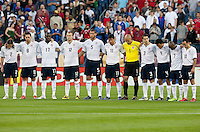 US Men's National Team take a moment of silence. FIFA World Cup qualifiers U.S. Men's National Team vs. Trinidad & Tobago. US defeated Trinidad & Tobago 3-0 at LP Field in Nashville, Tennessee on April 1, 2009.