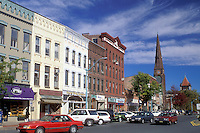 Northampton, Massachusetts, MA, Main Street in downtown Northampton in the autumn.