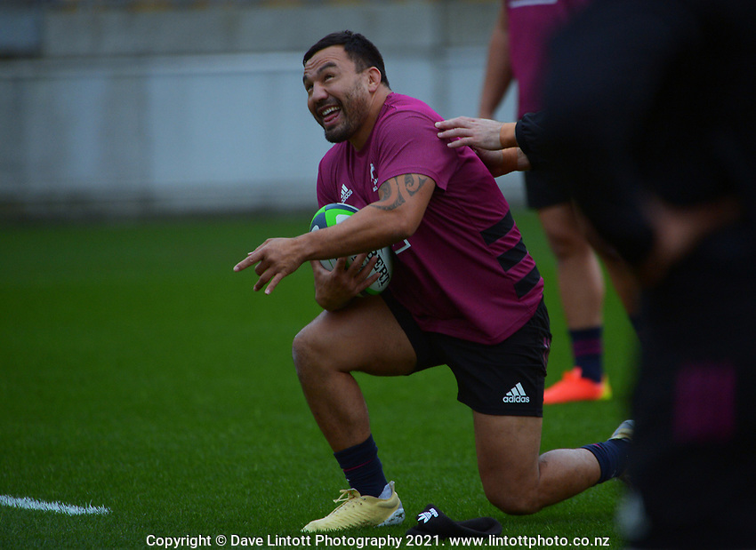 Ash Dixon. Maori All Blacks captain's run rugby training at Sky Stadium in Wellington, New Zealand on Friday, 25 June 2021. Photo: Dave Lintott / lintottphoto.co.nz