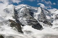 Berninagruppe, Bernina, Berggruppe, Berge, Alpen, Ostalpen, Engadin, Graubünden, Schweiz. Bernina Range, mountain range, Alps, Switzerland