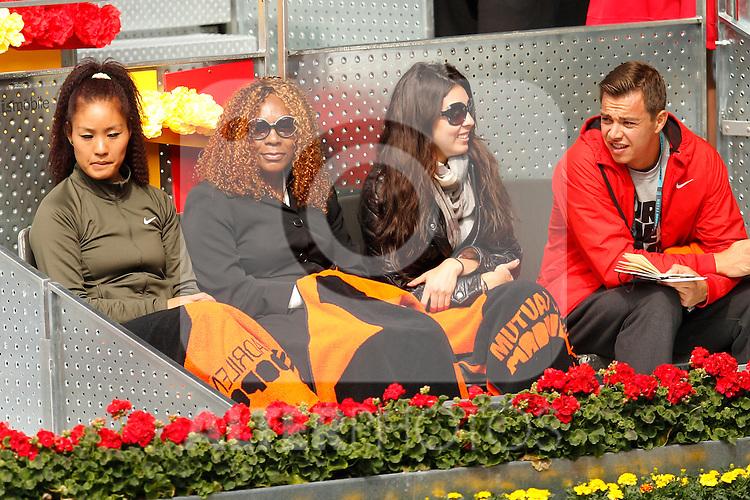Serena Williams's relatives during Mutua Madrid Open 2012 match on may 7th 2012...Photo: Cesar Cebolla / ALFAQUI