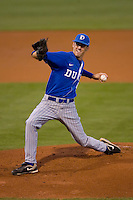 Starting pitcher Christopher Manno #49 of the Duke Blue Devils in action versus the North Carolina Tar Heels at Durham Bulls Athletic Park May 20, 2009 in Durham, North Carolina.  (Photo by Brian Westerholt / Four Seam Images)